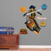 Fathead Star Wars Ezra and Chopper Jr Wall Graphic