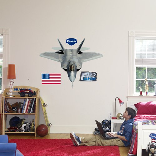 Fathead F-22 Raptor Wall Graphic - Kids Wall Decor Store