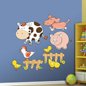 Fathead Farm Animals Peel and Stick Wall Graphics