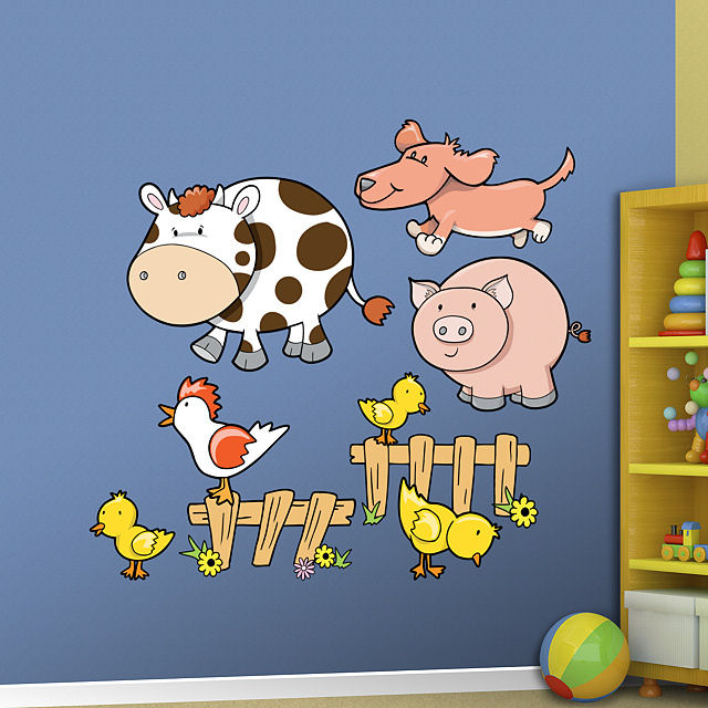 Fathead Farm Animals Peel and Stick Wall Graphics - Wall Sticker Outlet