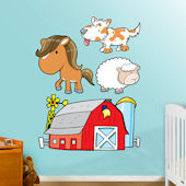 Fathead Farm Animals 2 Peel and Stick Wall Graphic