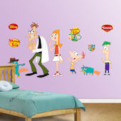 Fathead Disney Phineas and Ferb Sticker Collection