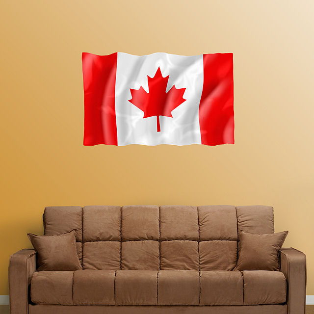 fathead flag of canada wall decals floral peony wall stickers canada
