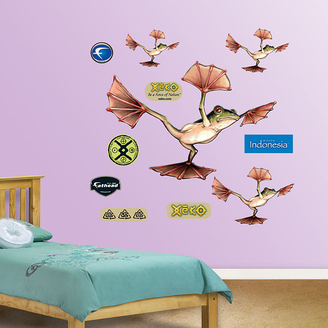 Fathead Flying Frog Wall Graphic - Wall Sticker Outlet