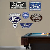 Fathead Ford Garage Signs Wall Graphic