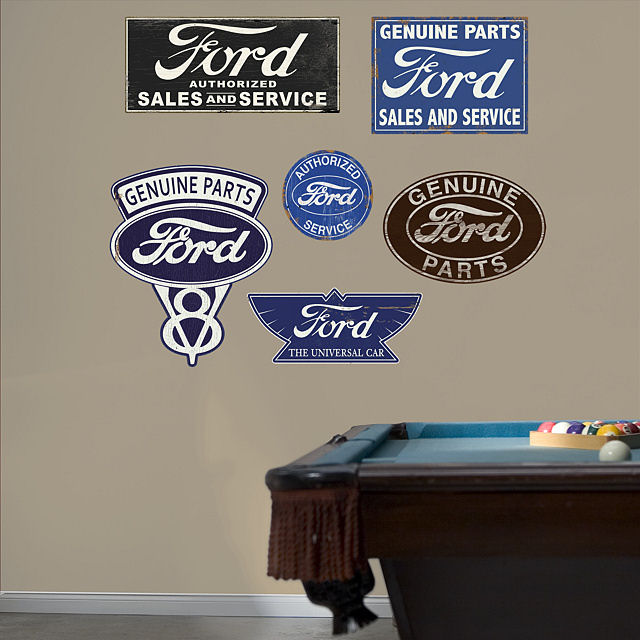 Fathead Ford Garage Signs Wall Graphic - Wall Sticker Outlet