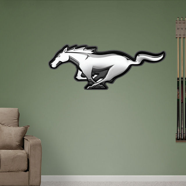 Fathead Ford Mustang Logo Wall Graphic - Wall Sticker Outlet