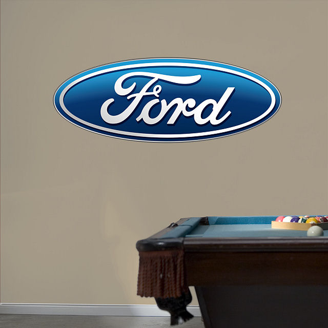 Fathead Ford Oval Logo Wall Graphic - Wall Sticker Outlet