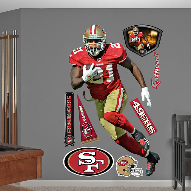 Fathead frank gore san francisco 49ers for 49ers wall mural
