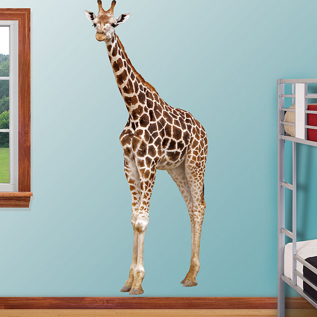 Fathead giraffe wall graphic for Animal wall mural