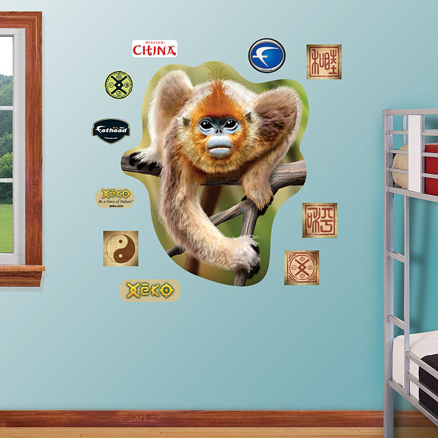 Fathead Golden Snub Nose Monkey Wall Graphic - Wall Sticker Outlet