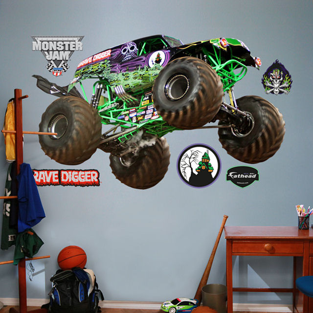 Fathead Monster Jam Grave Digger Wall Graphic - Wall Sticker Outlet