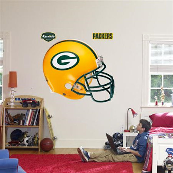 Nice Fathead Green Bay Packers Helmet Real Big Mural   Wall Sticker Outlet Part 9