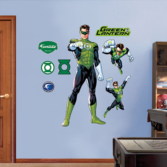 Green Lantern Fathead Wall Sticker - Wall Sticker Outlet