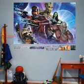Fathead Guardians of the Galaxy Heroes Mural