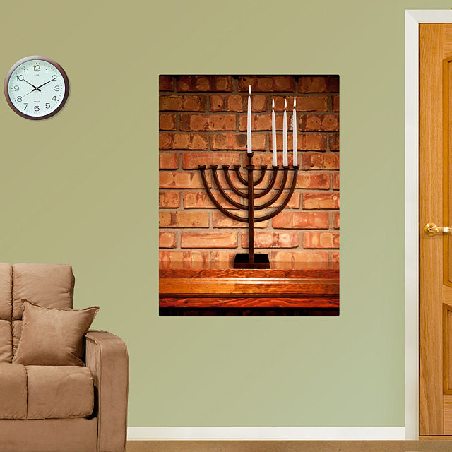Fathead Holiday Menorah - Wall Sticker Outlet