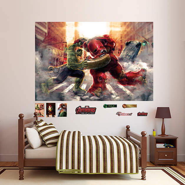 Fathead Avengers Age of Ultron Hulkbuster Mural - Wall Sticker Outlet