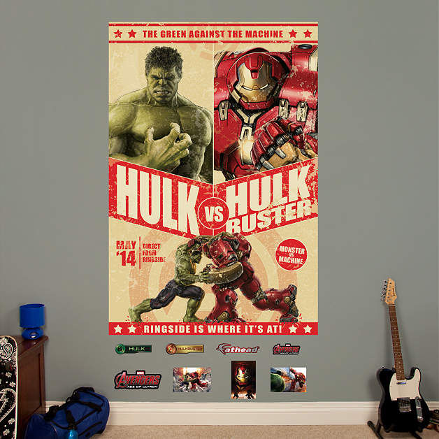 Fathead Avengers Age of Ultron Hulkbuster Poster - Wall Sticker Outlet