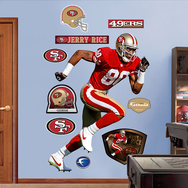 Fathead jerry rice san francisco 49ers for 49ers wall mural
