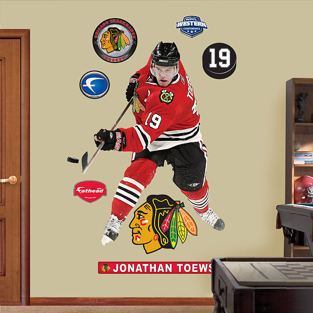 Fathead jonathan toews chicago blackhawks for Blackhawks mural chicago