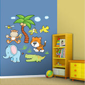 Fathead Jungle Animals Peel and Stick Wall Sticker