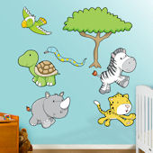 Fathead Jungle Animals One Peel Stick Wall Graphic