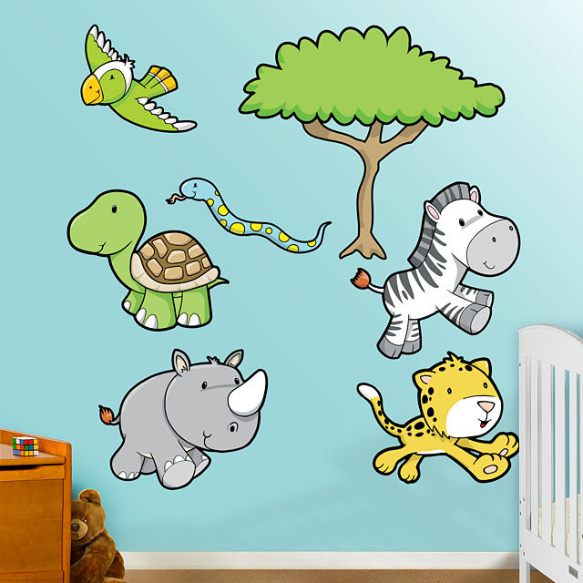 Fathead Jungle Animals One Peel Stick Wall Graphic - Wall Sticker Outlet