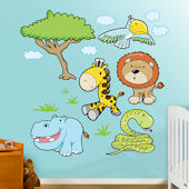 Fathead Jungle Animals 3 Peel Stick Wall Graphic
