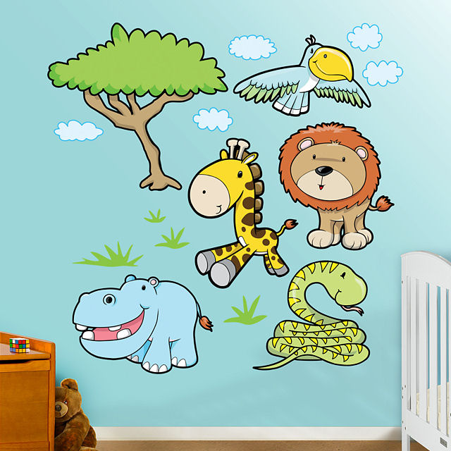 Fathead Jungle Animals 3 Peel Stick Wall Graphic - Wall Sticker Outlet