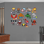 Fathead Kawaii Marvel Girl Superheroes Collection