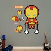 Fathead Kawaii Iron Man Wall Sticker