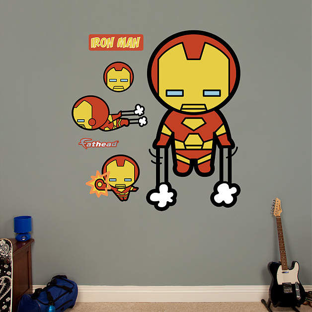 Fathead Kawaii Iron Man Wall Sticker - Wall Sticker Outlet