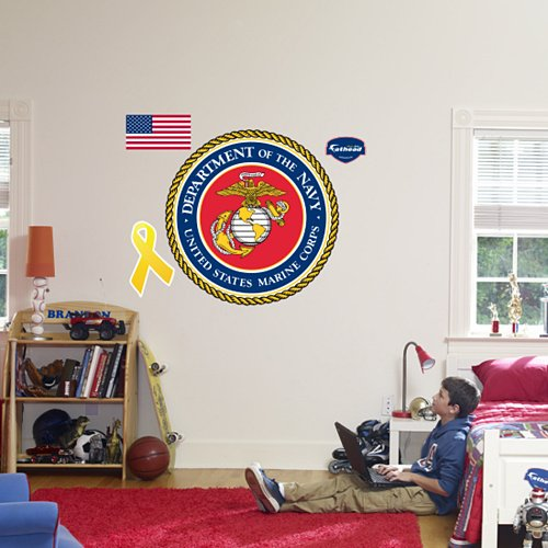 Fathead United States Marine Military Insignia - Kids Wall Decor Store