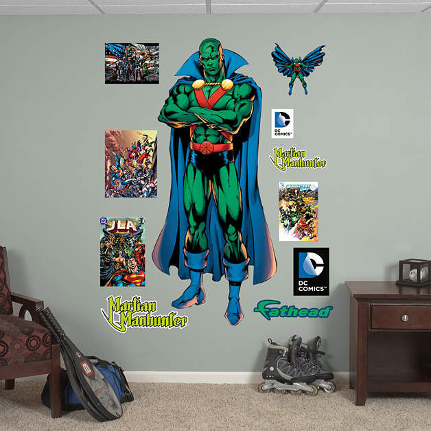 fathead martian manhunter wall decal giveaway wall sticker outlet gift certificate