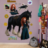 Fathead Brave Merida and Angus Wall Graphic