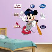 Fathead Disney Mickey Cardinal Baseball Decal