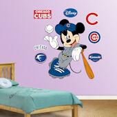 Fathead Disney Mickey Mouse Cubs Baseball Decal
