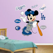 Fathead Disney Mickey Mouse Dodger Baseball Decal