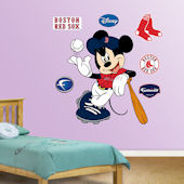Fathead Disney Mickey Mouse Red Sox Baseball Decal