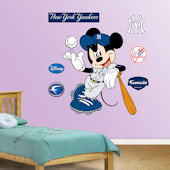 Fathead Disney Mickey Mouse Yankees Baseball Decal