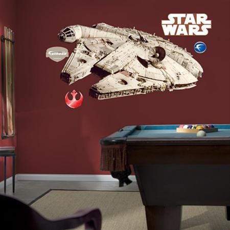 Fathead Millenium Falcon Wall Graphic - Wall Sticker Outlet