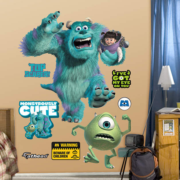 Fathead Disney Monsters Inc Wall Decals - Wall Sticker Outlet