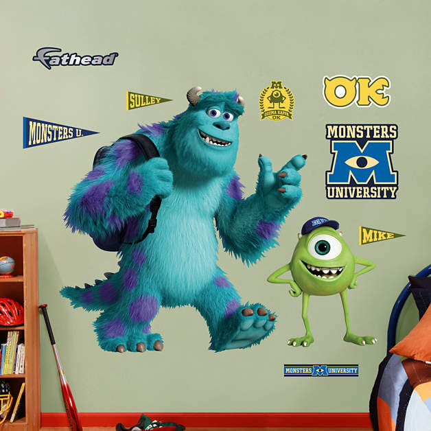 Fathead Disney Mike and Sulley Monsters University - Wall Sticker Outlet