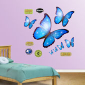 Fathead Morpho Blue Butterfly Wall Graphic
