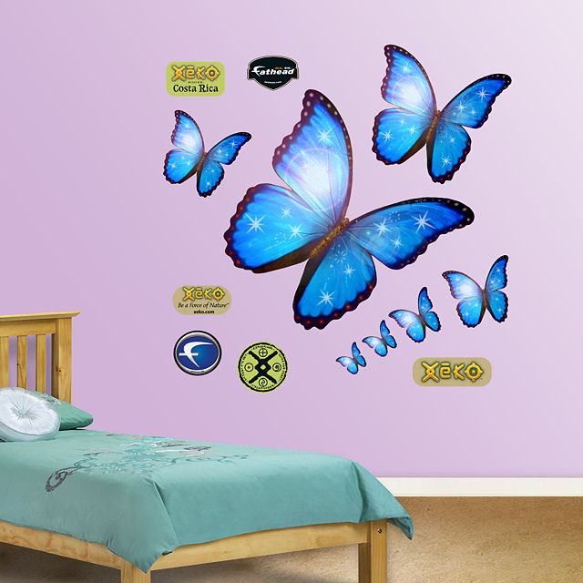Fathead Morpho Blue Butterfly Wall Graphic - Wall Sticker Outlet