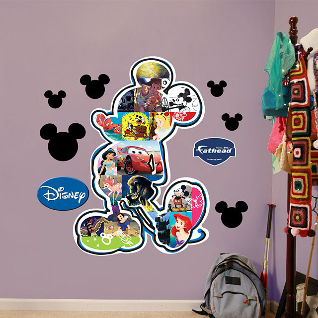 Fathead Disney Mickey Mouse Movie Montage Sticker - Wall Sticker Outlet