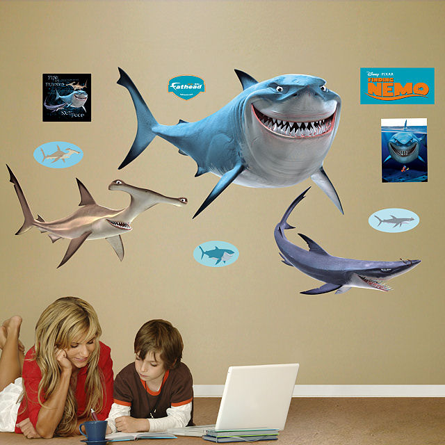 Fathead Disney Finding Nemo Sharks Wall Sticker - Wall Sticker Outlet