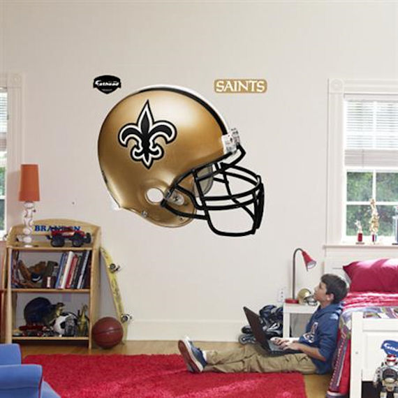 Fathead New Orleans Saints Helmet Real Big Mural - Wall Sticker Outlet