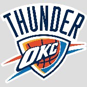 Fathead Oklahoma City Thunder Logo Wall Graphic