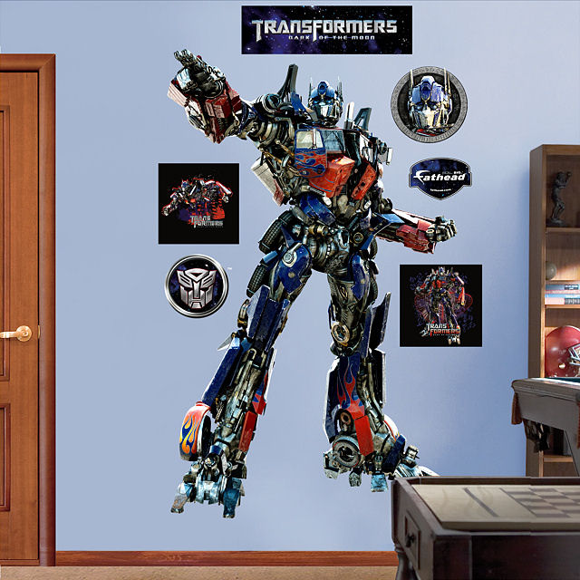 Fathead Transformers Optimus Dark of Moon Decal - Wall Sticker Outlet